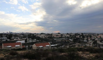 A general view of the Israeli settlement of Beit El near Ramallah in the West Bank, February 16, 2017.
