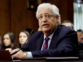 David Friedman testifies before a Senate Foreign Relations Committee hearing on his nomination to be U.S. ambassador to Israel, February 16, 2017.