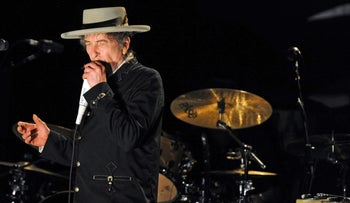 File photo: Bob Dylan performing during the Bluesfest music festival. April 25, 2011.