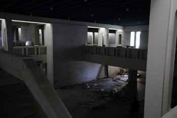View of an empty room at a destroyed museum in Mosul, Iraq, April 2, 2017. Picture taken April 2, 2017.