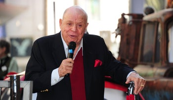 Comedian Don Rickles speaking during a Hollywood Walk of Fame star presentation ceremony in Hollywood, 2011.