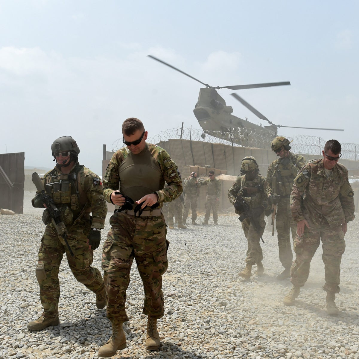 U.S. troops in Afghanistan.