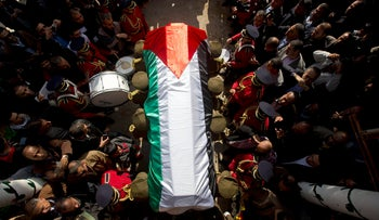 FILE PHOTO: Body of Palestinian. Israeli admits that it lost at least seven bodies of Palestinians killed in the 90s