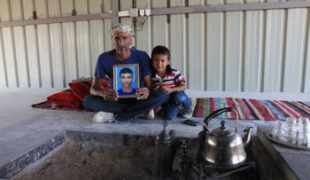 Suleiman abu Habak, father of Mazen abu Habak, and the younger brother of the Bedouin teenager, who died of a gunshot to the back