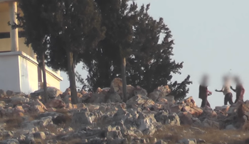 Stones thrown at a Palestinian home in Burin.
