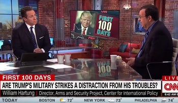 """CNN's """"New Day"""" panel discusses Donald Trump's military actions in Syria and Afghanistan, April 17, 2017."""