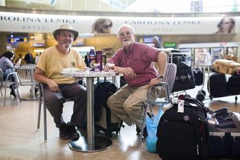 Fred Archibald (left) and Trevor Watson.