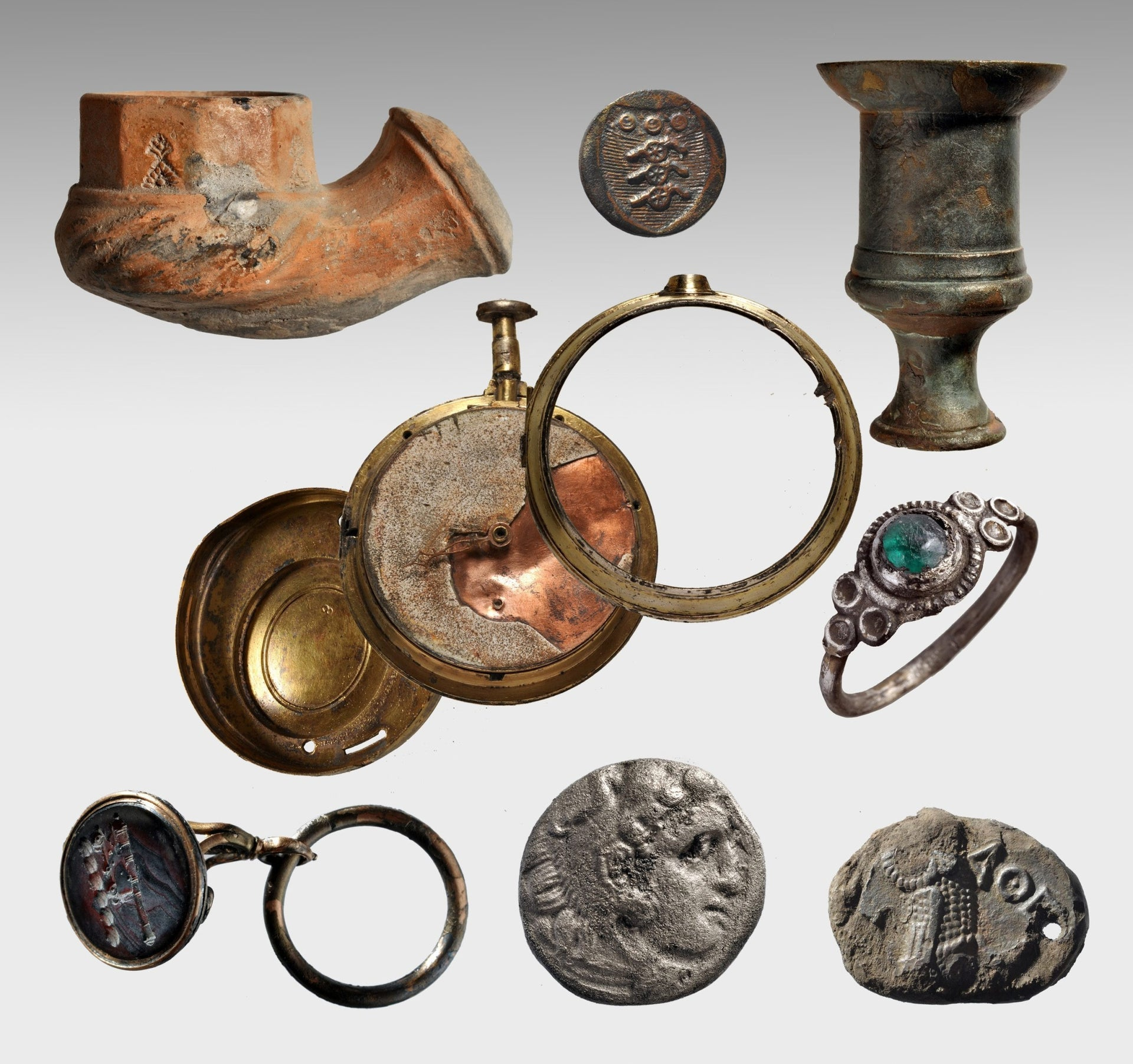 Artifacts found aboard the Mentor,  Lord Elgin's ship that sank off Kythera while carrying Parthenon marbles from Piraeus to London in 1802.