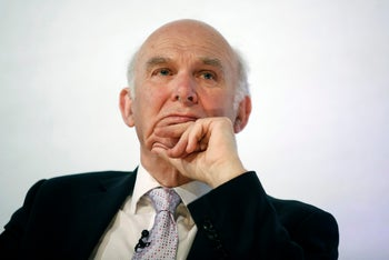 Vince Cable, U.K. business secretary, at the British Museum in London on April 14, 2015.