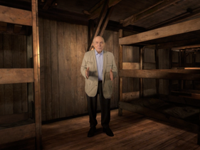 Holocaust survivor Pinchas Gutter in 'The Last Goodbye' virtual-reality project.