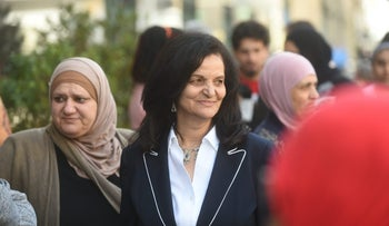 Rasmea Odeh outside the Theodore Levin U.S. Courthouse in Detroit on Tuesday, April 25, 2017, is expected to agree to be deported  for failing to disclose her conviction for bombings in Israel in the late 1960s