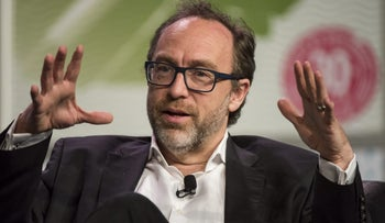 Wikipedia co-founder Jimmy Wales at the South by Southwest Festival in Austin, Texas, March 2016.