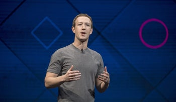 Mark Zuckerberg, chief executive officer of Facebook Inc., speaks during the F8 Developers Conference in San Jose, California, U.S., on Tuesday, April 18, 2017.