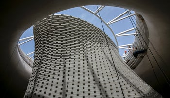 Work carried out at Israel's new National Remembrance Hall in Jerusalem.