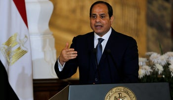 Egypt's President Abdel Fattah al-Sissi speaks during a news conference in Cairo, Egypt, March 2, 2017.