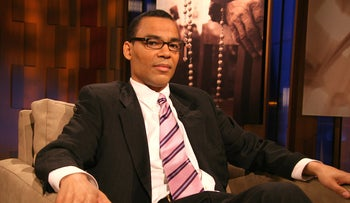 "Thomas Lopez-Pierre on the show ""Meet the Faith"" in BET studios in New York City, 2006."