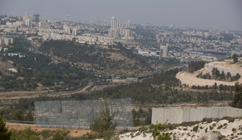 The separation barrier outside Walaja