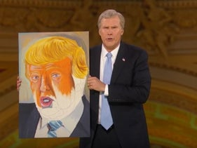 Will Ferrell performs his George W. Bush impression at Samantha Bee's parody event. April 29, 2017.