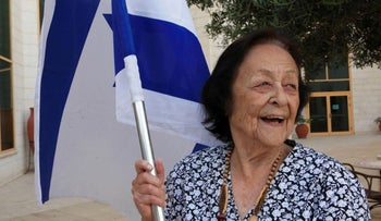 Naomi Orev, a veteran of the War of Independence on the Gush Etzion front, April 2017.