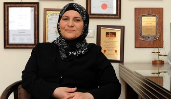 Hana Mansour-Khatib, the first woman in Israel ever appointed a judge, or qadi, to a Muslim religious court.