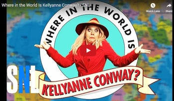 """""""Saturday Night Live"""" asks """"Where in the world is Kellyanne Conway?"""""""