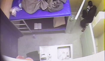 Israel releases footage of leader of Palestinian hunger strike eating in his prison cell
