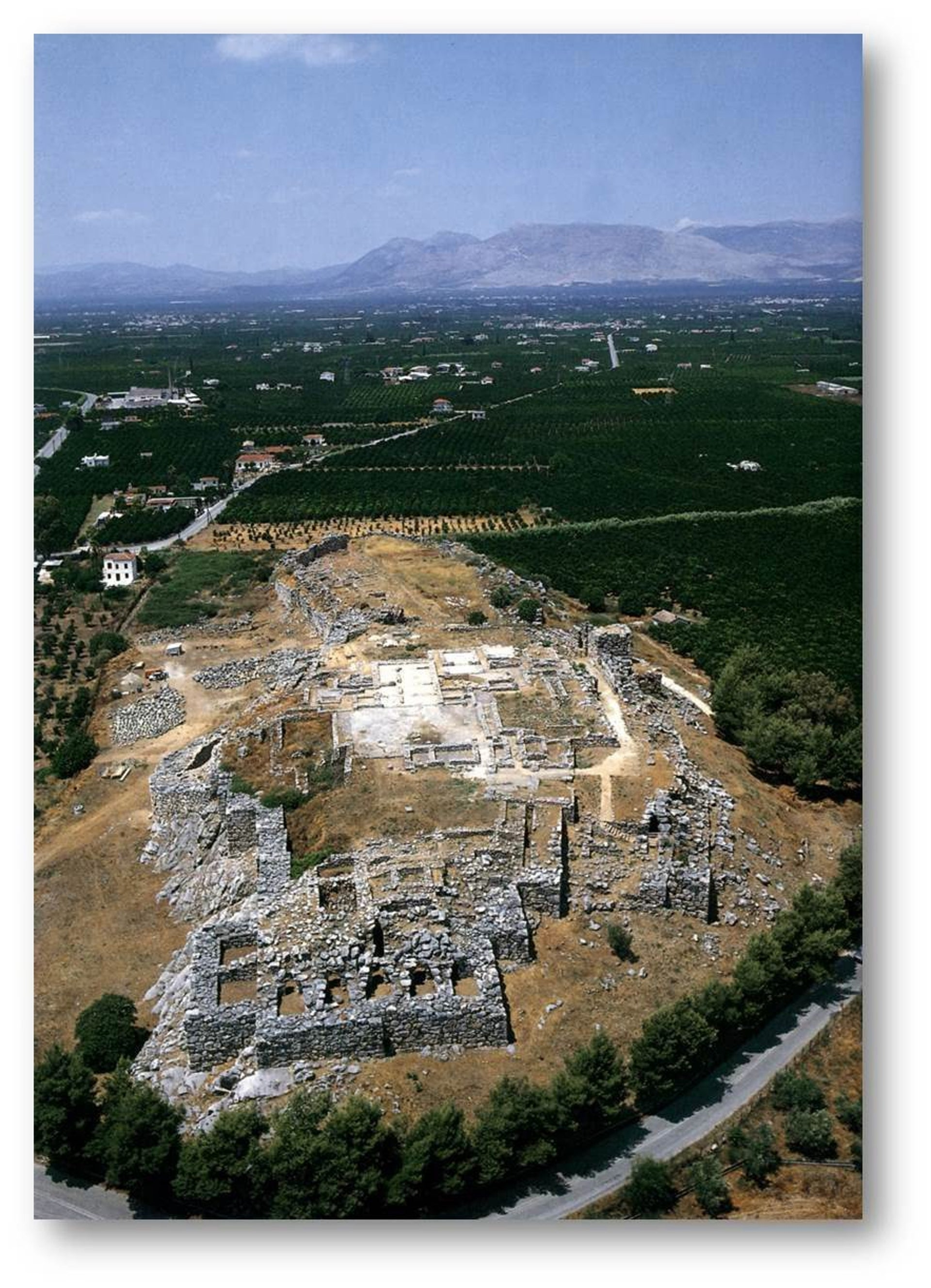 Aerial view of Tiryns, in the heartland of Mycenaean Greece