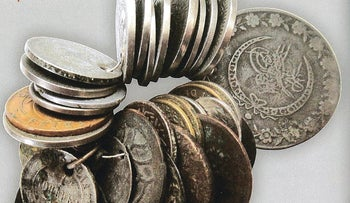 Ottoman-era coins bought by Polish soldiers stationed in the Middle East during World War II.