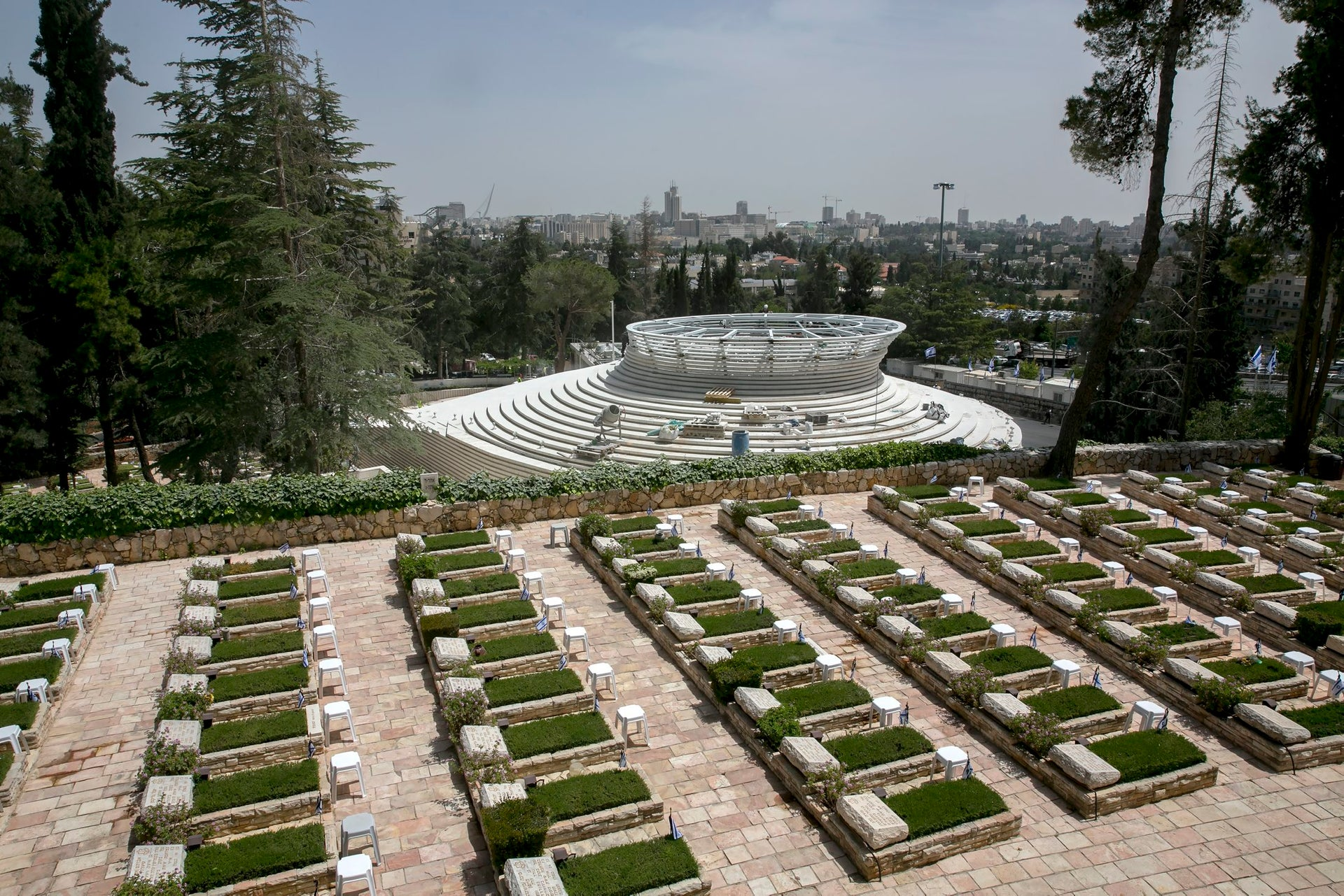 The Israel's new National Remembrance Hall in Jerusalem.