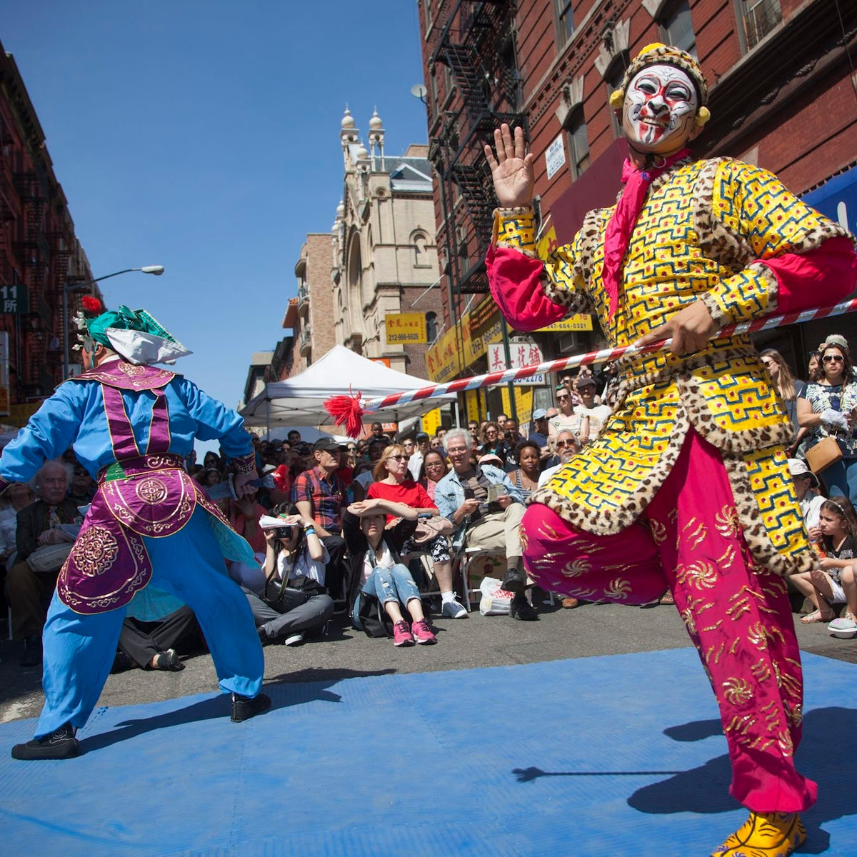 The Egg Rolls and Egg Creams festival at the Museum at Eldridge Street, New York.