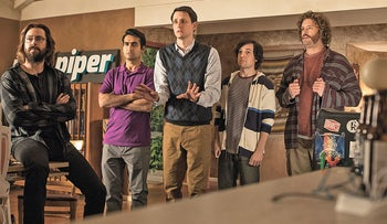 A scene from the fourth season of 'Silicon Valley.' Not easy to fulfill your dreams.
