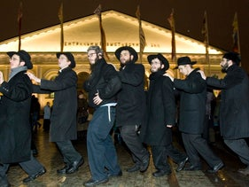 File photo: Jews celebrate Hanukkah in Moscow, Russia.