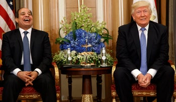 U.S. President Donald Trump and Egypt President Abdel Fattah el-Sissi in Riyadh, Saudi Arabia, May 21, 2017.