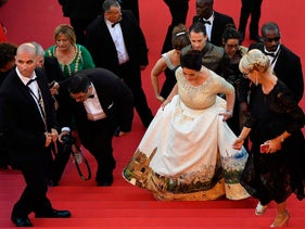 Culture Minister Miri Regev at the Cannes Film Festival on May 17, 2017.