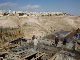 Construction in Ma'aleh Adumim