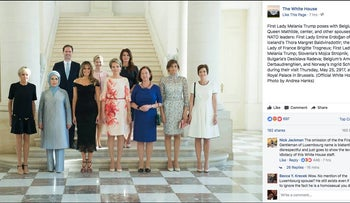 The White House photo post omitting the name of the husband of the prime minister of Luxembourg