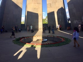 """The memorial to the victims of the """"Great Slaughter,"""" where 1.5 million Armenians were massacred between 1915 and 1923 by the Ottoman Empire, in Yerevan, Armenia"""