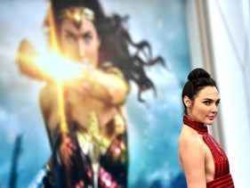 "Actress Gal Gadot arrives at the Premiere Of Warner Bros. Pictures' ""Wonder Woman"" at the Pantages Theatre on May 25, 2017 in Hollywood, California."