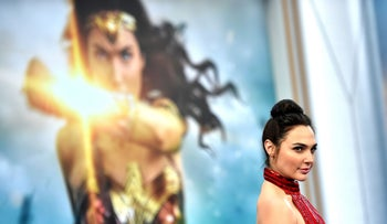 """Actress Gal Gadot arrives at the Premiere Of Warner Bros. Pictures' """"Wonder Woman"""" at the Pantages Theatre on May 25, 2017 in Hollywood, California."""