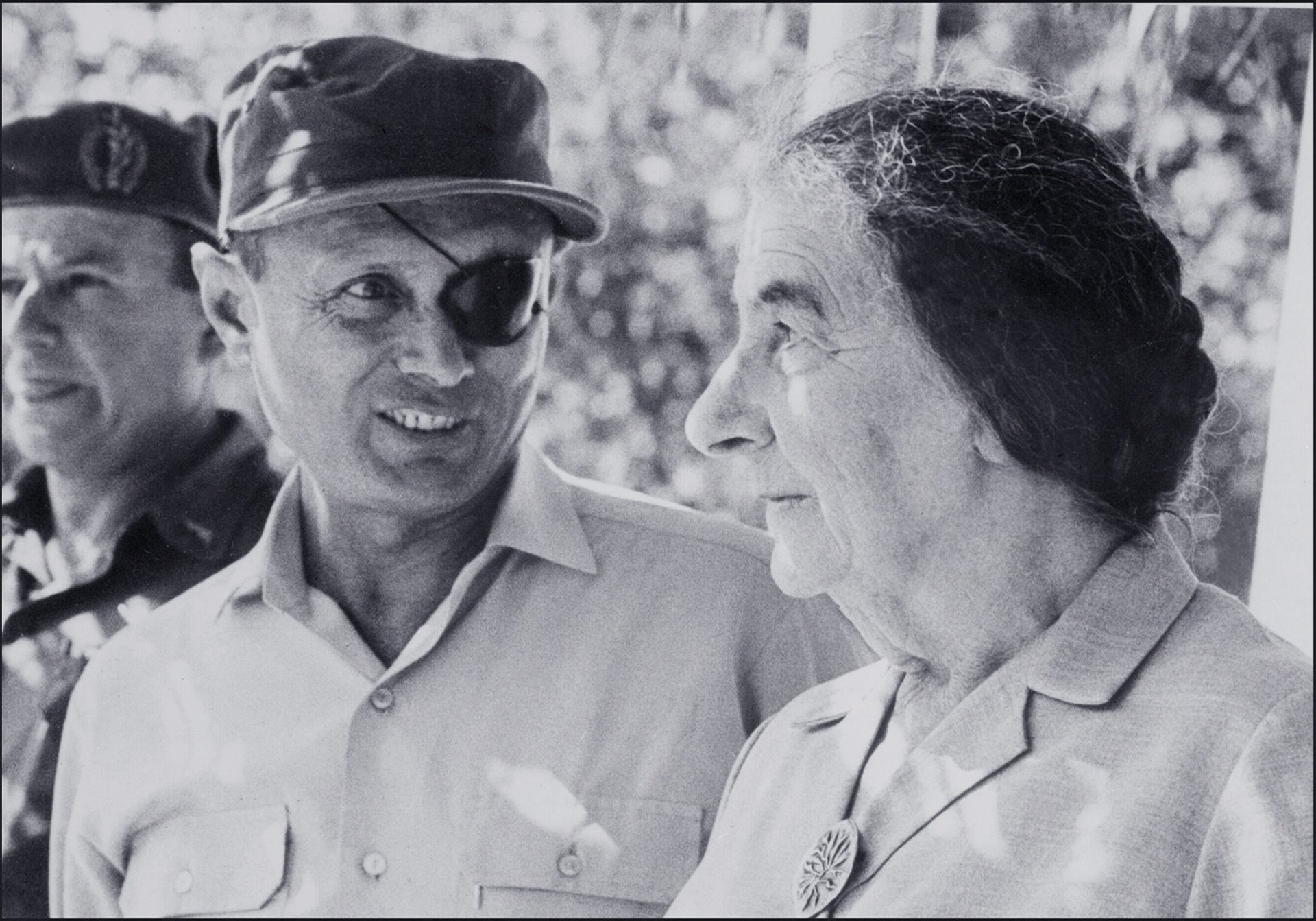 Defense Minister Moshe Dayan and Prime Minister Golda Meir in July 1969.