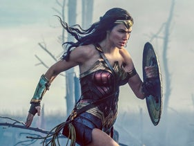 "Gal Gadot in a scene from ""Wonder Woman"" in theaters on June 2."