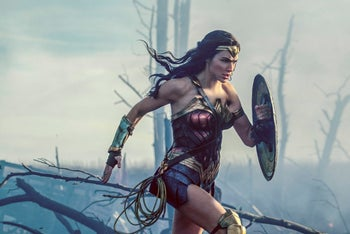 """Gal Gadot in a scene from """"Wonder Woman"""" in theaters on June 2."""