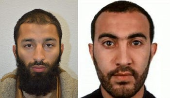 Khuram Shazad Butt (L) and Rachid Redouane, have been named as two of the three London attackers, June   5, 2017.