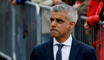 Mayor of London, Sadiq Khan arrives in Potters Field Park for an event for the victims of Saturday nights attacks, London, June 5, 2017.