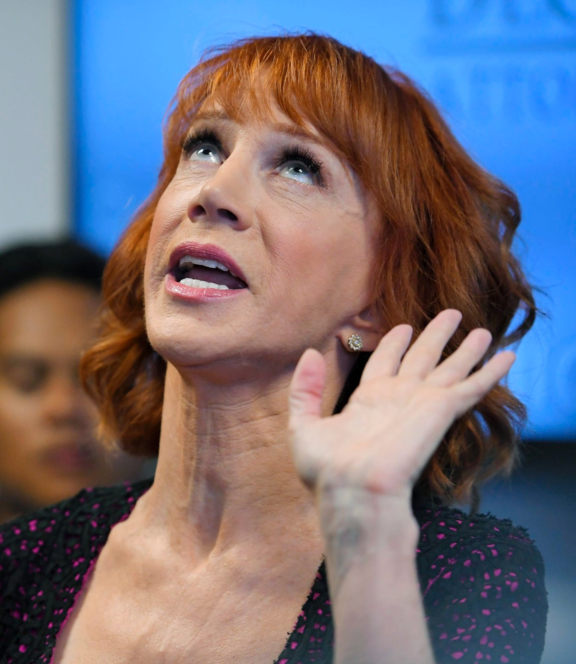 Comedian Kathy Griffin speaks during a news conference on Friday.