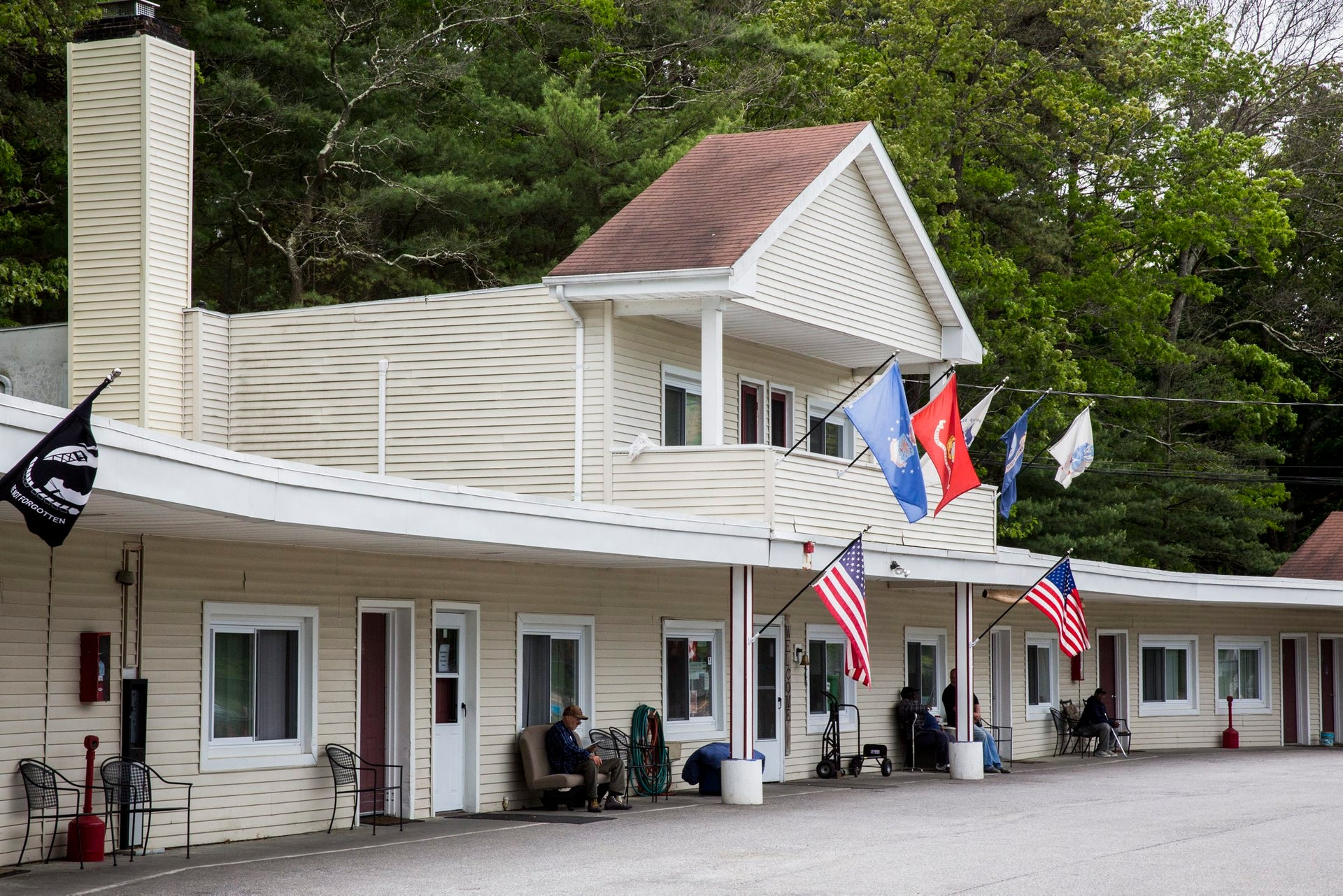 "The army veterans club across from German Gardens, a former Nazi enclave in the Long Island locale of Yaphank. ""It's like a state within a state, no one knows what really happens there,"" says one vet."