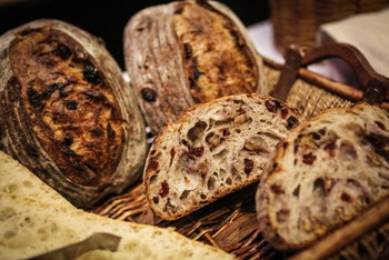 FILE PHOTO: Artisan bread is arranged for display during the Best Baguette in NYC competition in New York, U.S., on Thursday, Jan. 21, 2016.