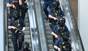 Armed police outside London Bridge station, June 4, 2017, near the scene of a terrorist incident on London Bridge and at Borough Market.