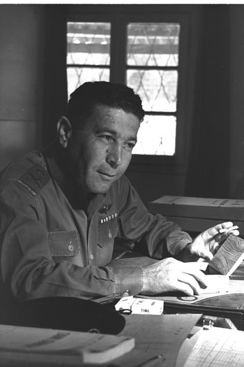 Maj. Gen. Israel Tal. Commanded the division that did the heavy lifting in conquering Sinai during the Six-Day War in June 1967.