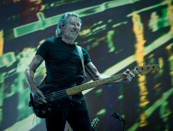 Roger Waters performing in Kansas City on May 26, 2017.